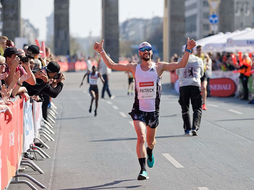 IRONMAN World Champion Patrick Lange at the GENERALI BERLIN HALF MARATHON