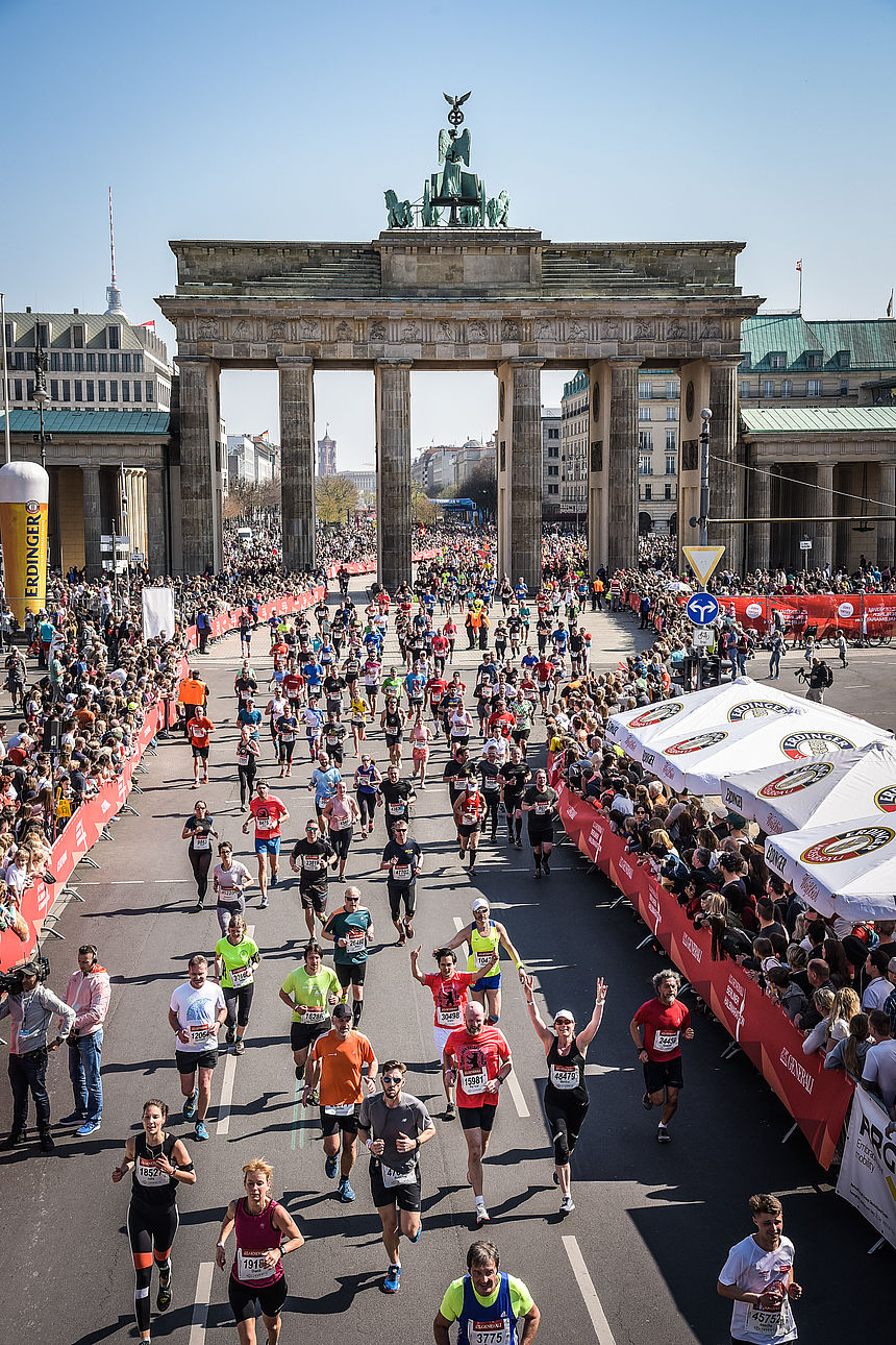 Finish at the GENERALI BERLIN HALF MARATHON 2019