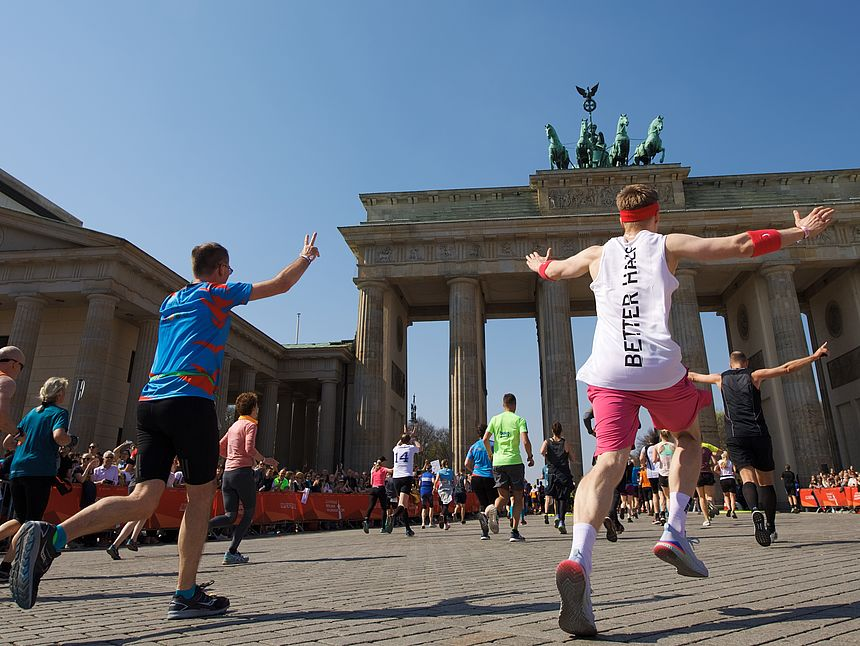 The Brandenburg Gate at the GENERALI BERLIN HALF MARATHON 2019